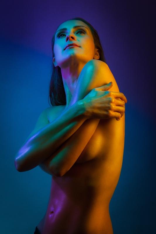 Akt Teilakt Lichteffekte Fotoshooting Fotostudio Berlin