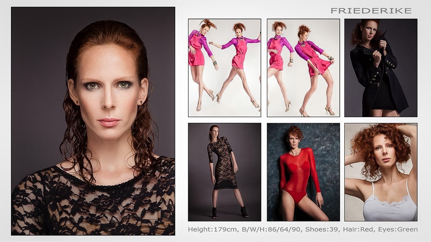 Fashion Sedcard Fotoshooting Fotostudio Berlin